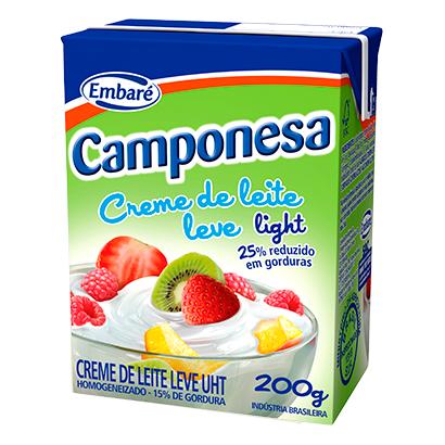 CREME DE LEITE CAMPONESA LIGHT 200G