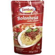 MOLHO PRONTO TAMBAU BOLONHESA 340G